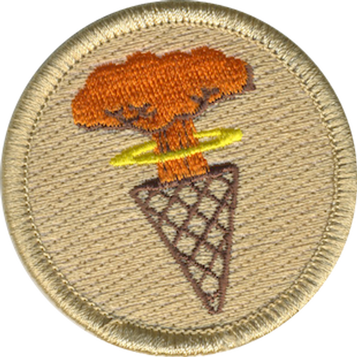 Atomic Ice Cream Cones Scout Patrol Patch - embroidered 2 inch round