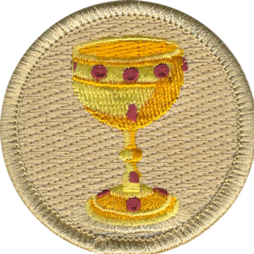Holy Grail Scout Patrol Patch - embroidered 2 inch round