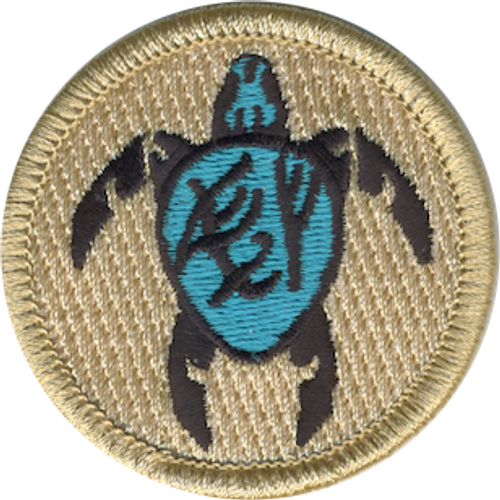 Fearless Firsts Sea Turtles Scout Patrol Patch - embroidered 2 inch round