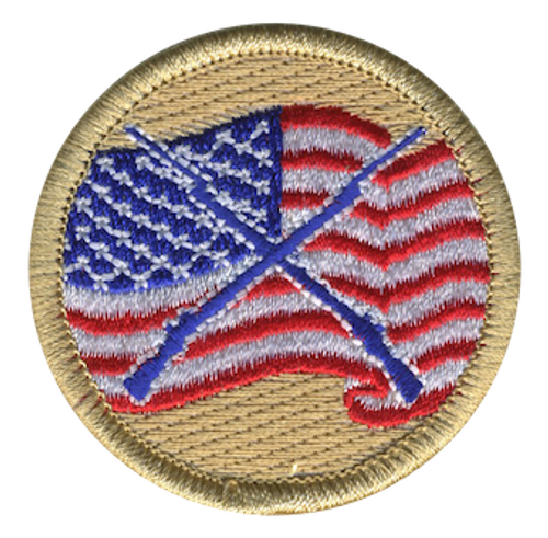 Patriots Scout Patrol Patch - embroidered 2 inch round