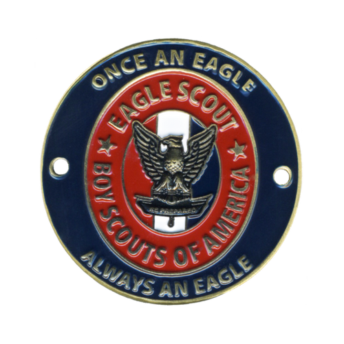 BSA Eagle Scout Hiking Medallion with Eagle Scout Medal Logo