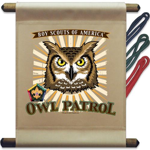 Wood Badge Mini Flag of Wood Badge Owl with Wood Badge Logo