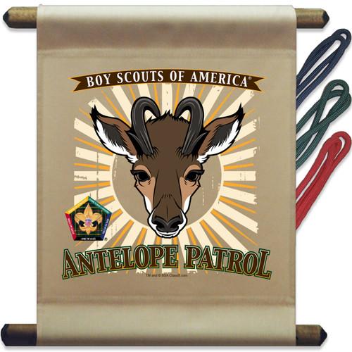 Wood Badge Mini Flag of Wood Badge Antelope with Wood Badge Logo