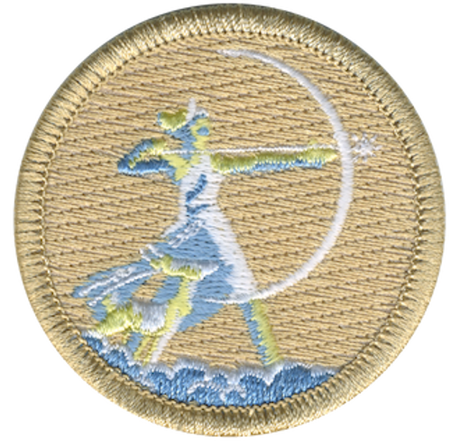 The Goddess Artemis Scout Patrol Patch - embroidered 2 inch round