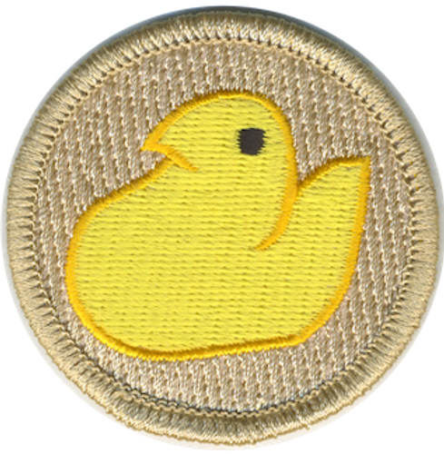 Marshmallow Duck Scout Patrol Patch - embroidered 2 inch round
