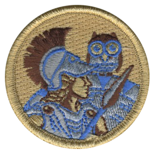 Athena Scout Patrol Patch - embroidered 2 inch round