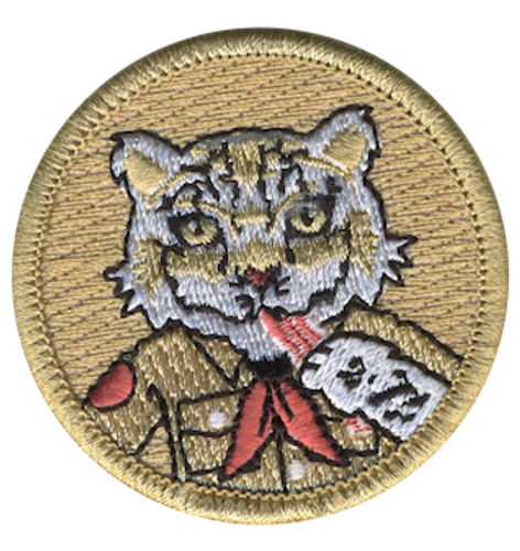 Bacon Snow Leopard Scout Patrol Patch - embroidered 2 inch round