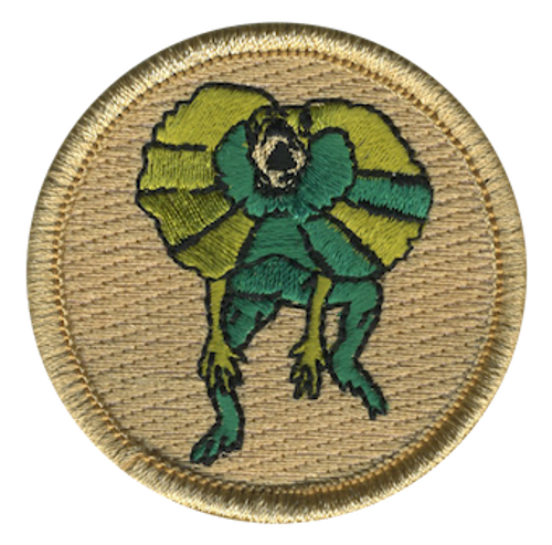 Frilled Lizard Scout Patrol Patch - embroidered 2 inch round