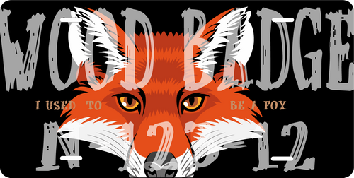 BSA Wood Badge License Plate With BSA Wood Badge Fox Critter and Wood Badge Course Number