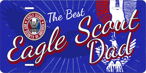 Scouts BSA Eagle Scout Dad License Plate with Eagle Scout Logo