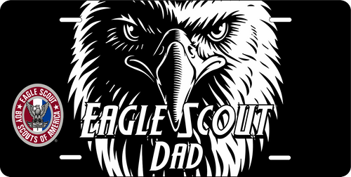 License Plate Eagle Scout Dad Eagle Face  SP7342