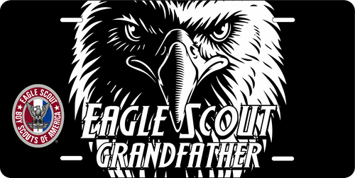 License Plate Eagle Scout Grandfather Eagle Face  SP7352