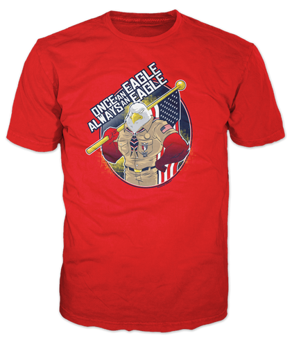 BSA Eagle Scout Graphic Tee With Eagle Scout Once an Eagle Always An Eagle Design