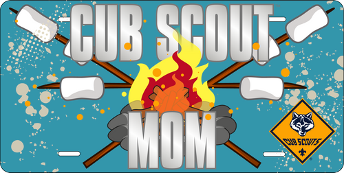 Cub Scout Pack Mom License Plate with Cub Scout Logo