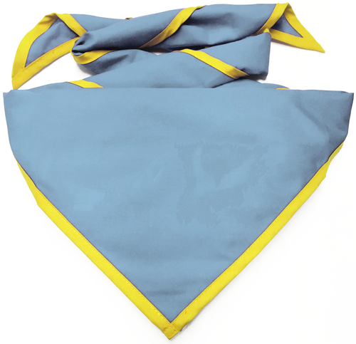 Blank Sky Neckerchief with Bright Yellow Piped Edge Troop Size (B848 M 5/41)