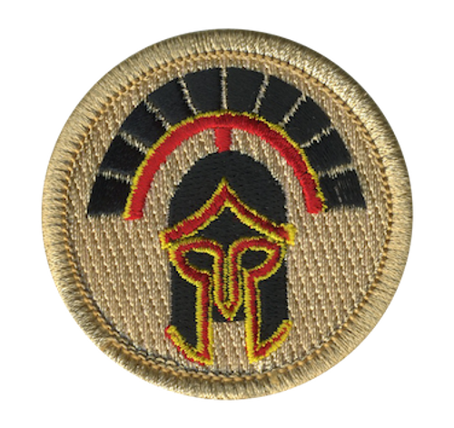 Spartan Warrior Scout Patrol Patch - embroidered 2 inch round