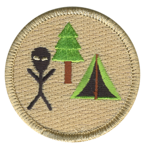 Alien Campout Scout Patrol Patch - embroidered 2 inch round