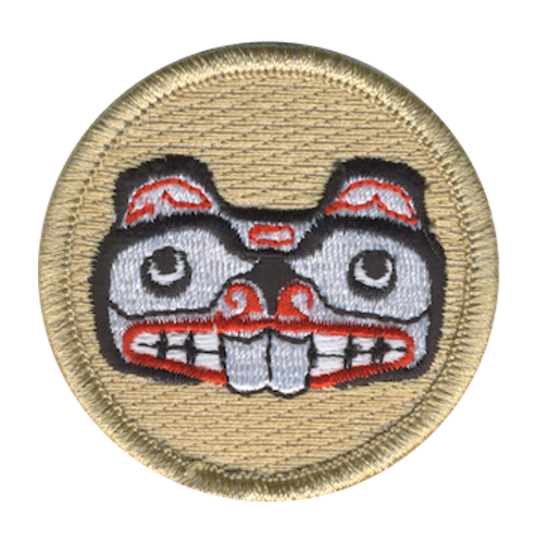 Beaver Totem Scout Patrol Patch - embroidered 2 inch round