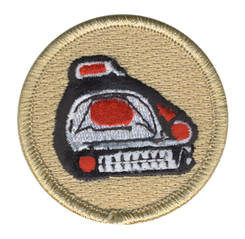 Panther Totem Scout Patrol Patch - embroidered 2 inch round