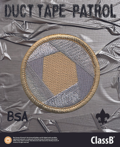 Scouts BSA Patrol Sticker with Duct Tape Patrol Design
