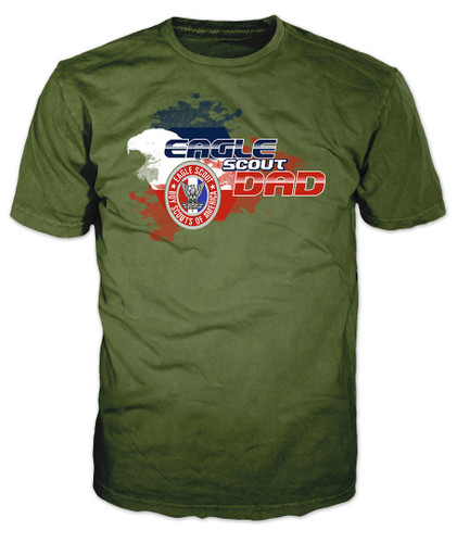 BSA Eagle Scouts Graphic Tee with Eagle Scout Dad Design