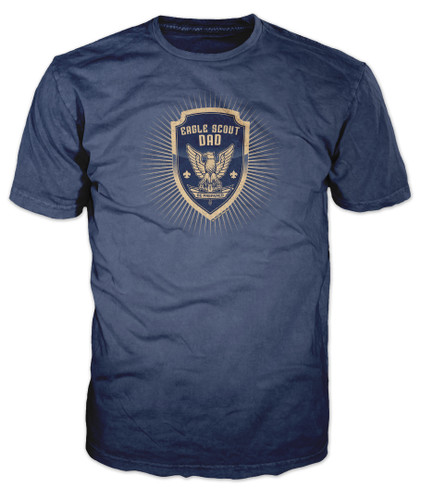 BSA Eagle Scouts Graphic Tee with Eagle Scout Be Prepared Dad Design
