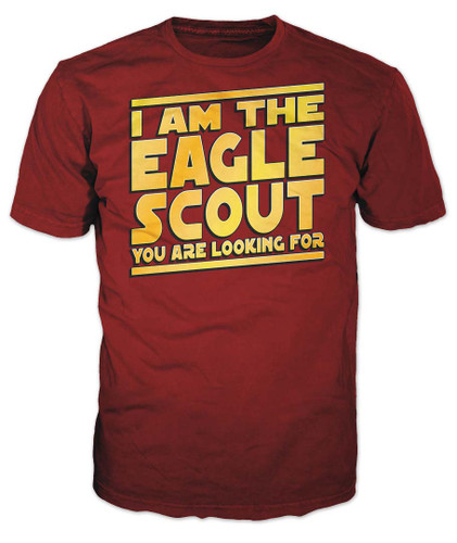 BSA Eagle Scout Graphic Tee With I Am The Eagle Scout Design