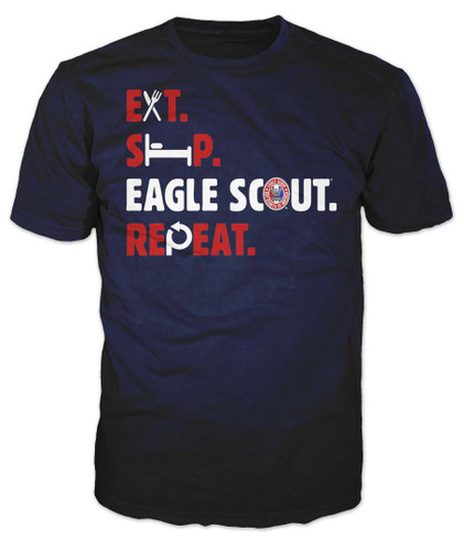BSA Eagle Scout Graphic Tee With Eat Sleep Eagle Scout Design