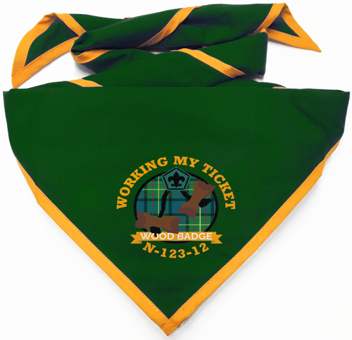 Custom Digitally Printed Wood Badge Neckerchief (SP7467)