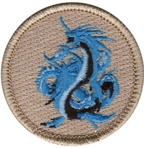 Sea Dragon Scout Patrol Patch - embroidered 2 inch round