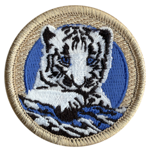 Snow Leopard Scout Patrol Patch - embroidered 2 inch round