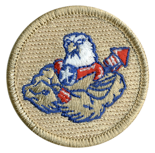 Buff American Eagle Scout Patrol Patch - embroidered 2 inch round