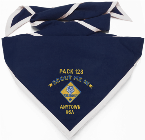 Pack Neckerchief with Cub Scout Logo and Scout Me In Logo