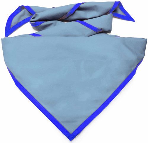 Blank Light Blue Neckerchief with Royal Piped  Edge - Troop Size (B848 BT 59/67)