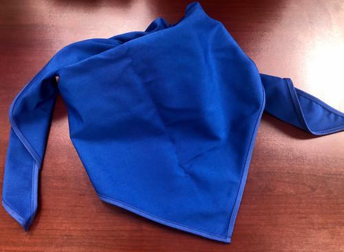 Blank Solid Royal Blue Neckerchief - Troop Size (B414 BT 67)
