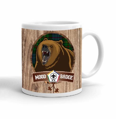 Wood Badge Mug with Wood Badge Bear Critter with Wood Badge Logo and Wood Badge Beads - Right View