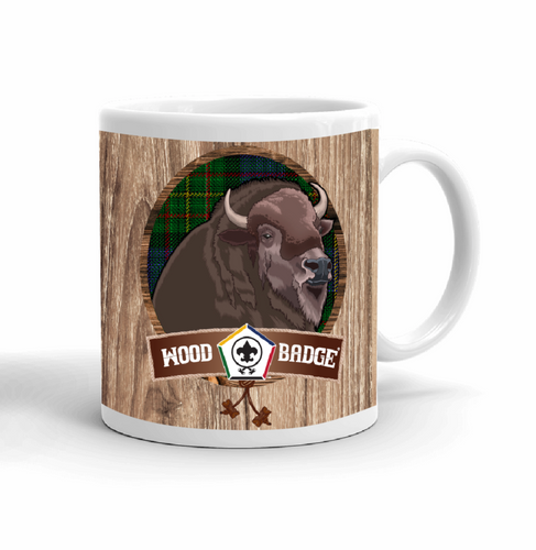 Wood Badge Mug with Wood Badge Buffalo Critter with Wood Badge Logo and Wood Badge Bead - Right View