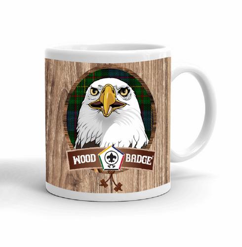 Wood Badge Mug with Wood Badge Eagle Critter with Wood Badge Logo and Wood Badge Bead - Right View