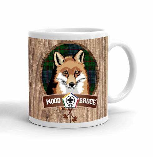 Wood Badge Mug with Wood Badge Fox Critter with Wood Badge Logo and Wood Badge Bead - Right View