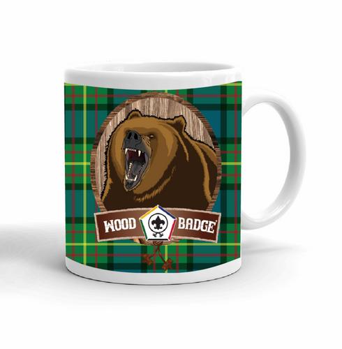 Wood Badge Mug with Wood Badge Bear Critter and Wood Badge Logo and Wood Badge Beads - Right side