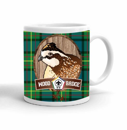 Wood Badge Mug with Wood Badge Bobwhite Critter and Wood Badge Logo and Wood Badge Beads - Right side