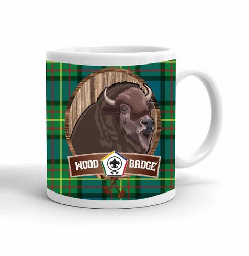 Wood Badge Mug with Wood Badge Buffalo Critter and Wood Badge Logo and Wood Badge Beads - Right side