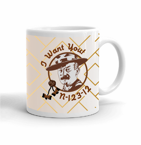Wood Badge Mug with Wood Badge Baden Powell and Wood Badge Beads - Right View