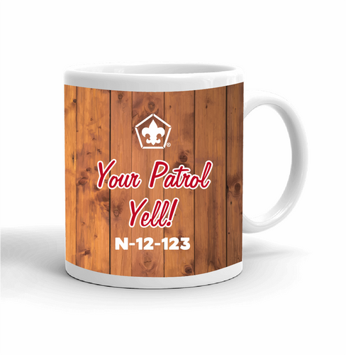 Wood Badge Mug with Wood Badge Logo - Left View