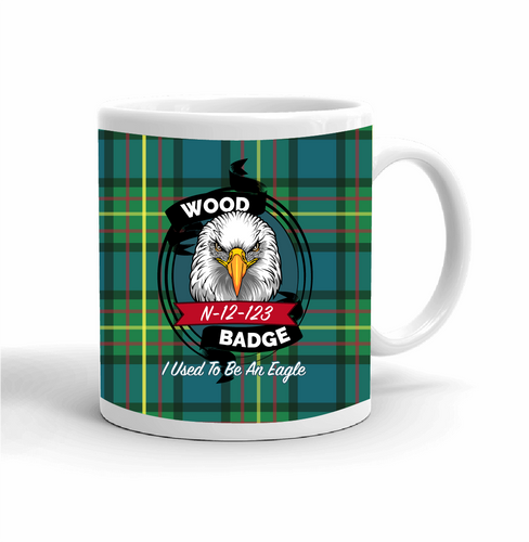 Wood Badge Mug with Wood Badge Eagle Critter - Left View