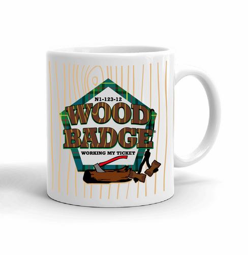 Wood Badge Mug with Wood Badge Logo - Right View