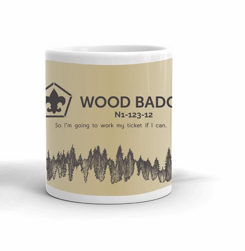 Wood Badge Mug with Wood Badge Logo - Middle View