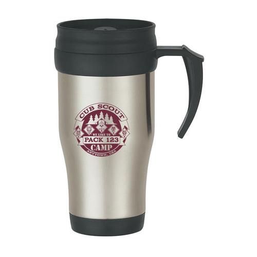16 oz. Stainless Steel Travel Mug with Cub Scout Design - 36 pcs
