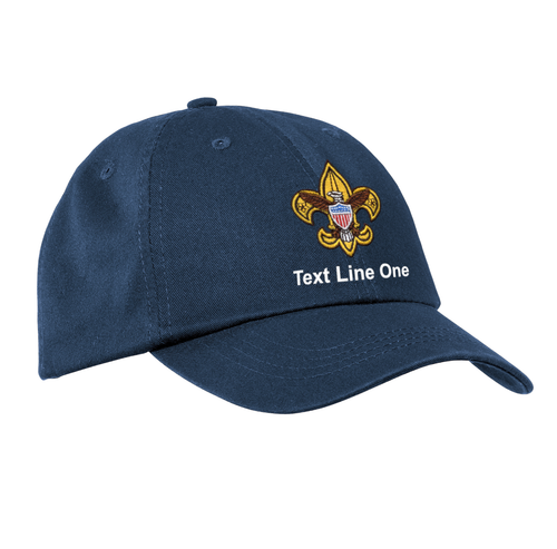 Port & Company® Washed Twill Cap with Scouts BSA Universal Logo