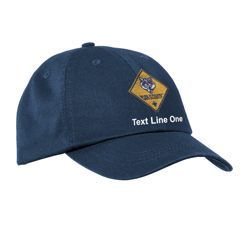 Port & Company® Washed Twill Cap with Cub Scout Logo